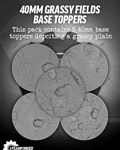 40mm Grassy Fields Resin Base Toppers x5?