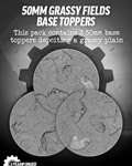 50mm Grassy Fields Resin Base Toppers x3?